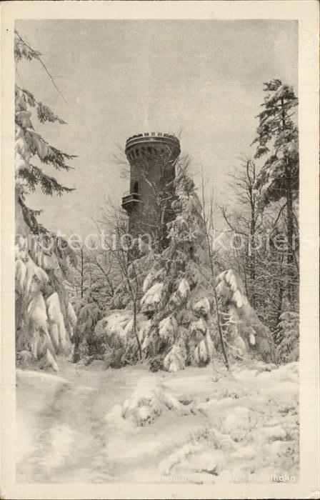Ilmenau Thueringen Kickelhahn Aussichtsturm im Winter Kat. Ilmenau
