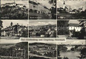 Bad Gleichenberg Straden Schlosser Halbenstein Kapfenstein Pappendorf Riegersburg Kat. Bad Gleichenberg