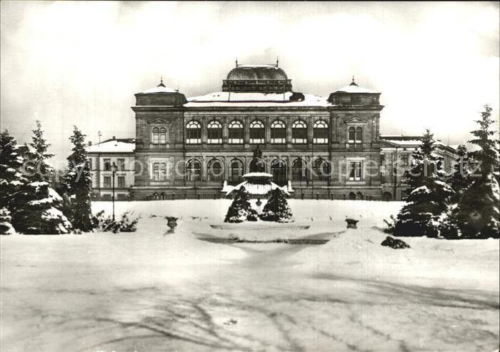 Alt Weimar Museumsplatz im Winter