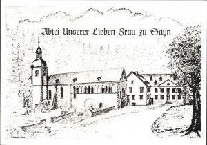 Sayn Bendorf Abtei Unserer Lieben Frau Kuenstlerkarte Kat. Bendorf