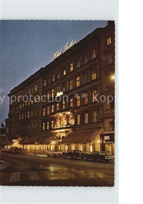 Wien Hotel Sacher Nachtaufnahme Kat. Wien
