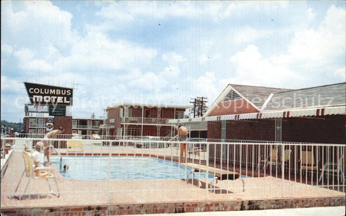 Columbus Mississippi Columbus Motel Pool Kat. Columbus