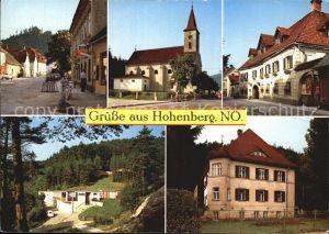 Hohenberg Niederoesterreich Ortsbild Gasthof Kirche Voralpenbad Pension Goeckl Kat. Hohenberg