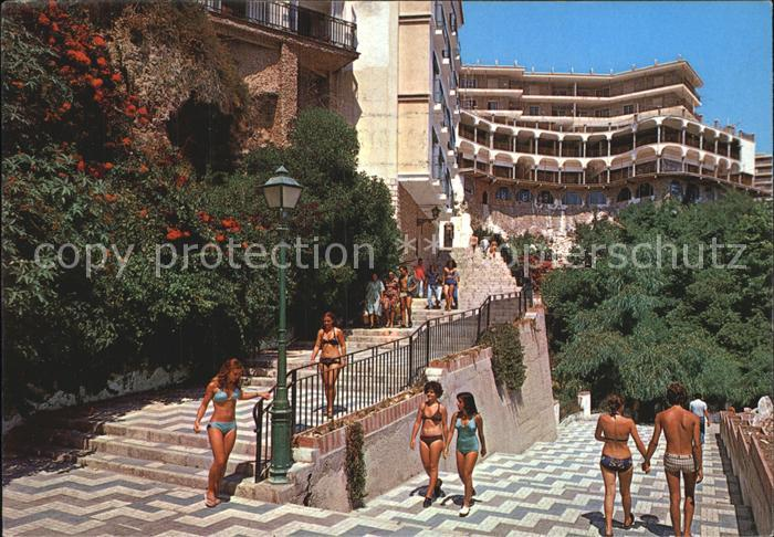 Torremolinos Gang zum Strand Kat. Malaga Costa del Sol
