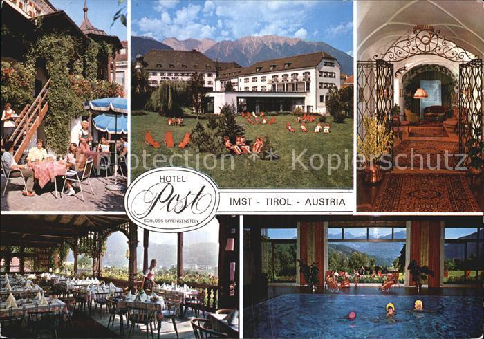 Imst Tirol Hotel Post Garten Hallenbad Terrasse Kat. Imst
