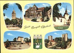 Bergisch Gladbach Evangelische Kirche Busbahnhof Hochhaeuser Rathaus Kat. Bergisch Gladbach