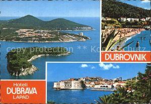 Dubrovnik Ragusa Strand Stadtansichten Kat. Dubrovnik