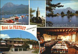 Prunieres Hautes Alpes Lac de Serre Poncon Hotel Le Preyret Kat. Prunieres