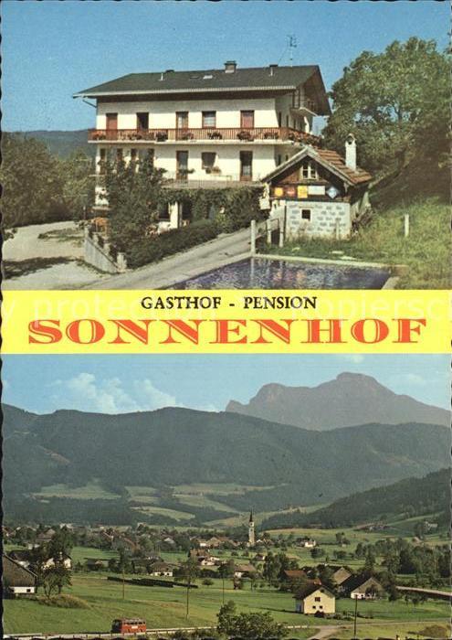 Oberwang Oberoesterreich Gasthof Pension Sonnenhof Kat. Oberwang