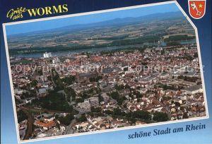 Worms Rhein Fliegeraufnahme Kat. Worms