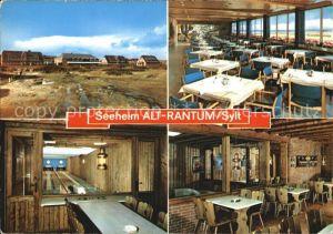 Alt Rantum Seeheim Gaststube Speisesaal Kegelbahnen