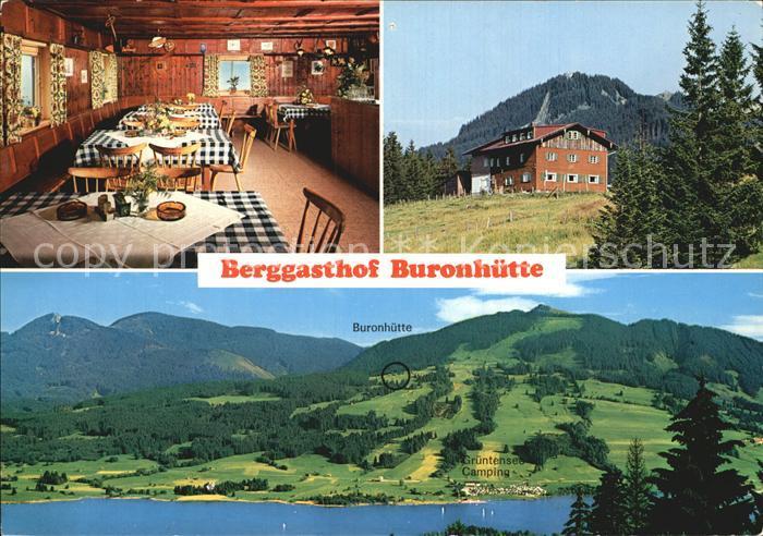 Wertach Berggasthof Buronhuette Gruentensee Panorama Kat Wertach Nr