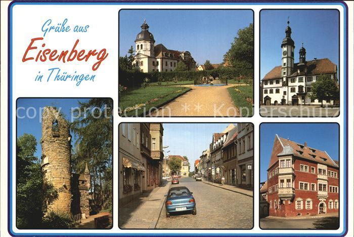 Eisenberg Thueringen Schloss Rathaus Heimattiergarten Steinweg Kat. Eisenberg