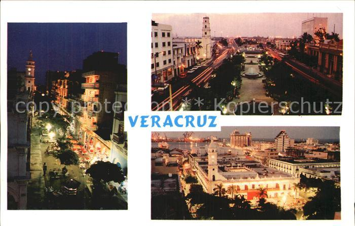 Veracruz Ortspartien am Abend Kat. Veracruz