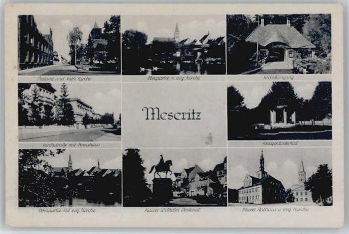 Meseritz Meseritz Postamt Kirchstrasse Kaiser Wilhelm Denkmal Kriegerdenkmal * / Tschechische Republik /Tschechische Republik