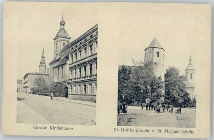 Strehlen Schlesien Strehlen Schlesien [handschriftlich] Grosse Kirchstrasse St Gotthardkirche St Michaeliskirche * / Tschechische Republik /Tschechische Republik