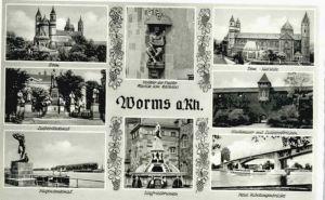 Worms Worms Luther Denkmal Siegfriedbrunnen x / Worms /Worms Stadtkreis