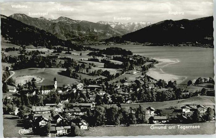 Gmund  Gmund  Fliegeraufnahme ungelaufen ca. 1955 / Gmund a.Tegernsee /Miesbach LKR