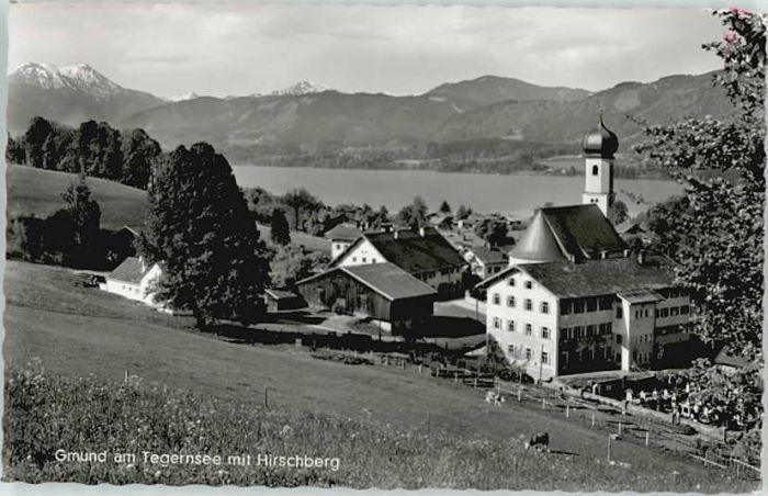 Gmund  Gmund  Hirschberg x 1959 / Gmund a.Tegernsee /Miesbach LKR