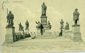 Worms Worms Luther Denkmal  x 1910 / Worms /Worms Stadtkreis