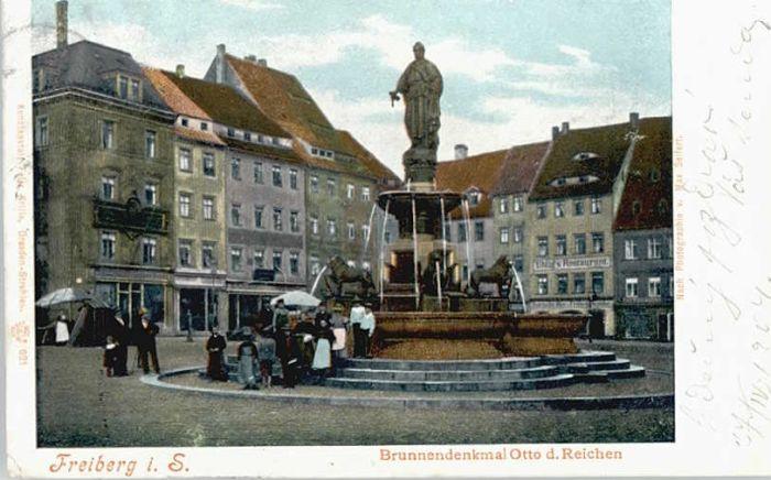 Freiberg Freiberg Brunnen Denkmal Otto d. Reichen x / Freiberg /Mittelsachsen LKR
