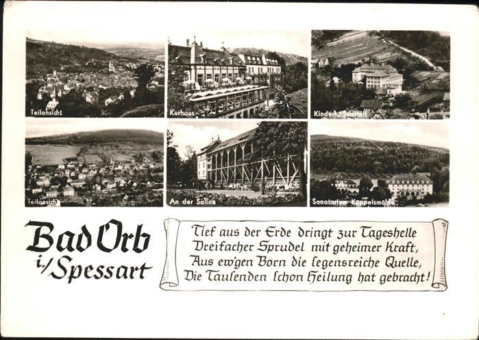 Bad Orb Spessart Teilansicht Kurhaus Kinderheilanstalt Saline Sanatorium Kat. Bad Orb