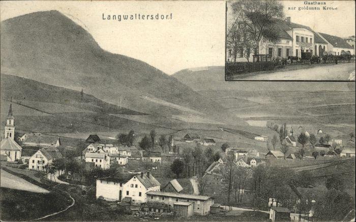 Langwaltersdorf Langwaltersdorf Gasthof zur goldenen Krone x /  /