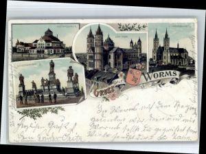 Worms Worms Liebfrauen Kirche Festspielhaus Luther Denkmal  x / Worms /Worms Stadtkreis
