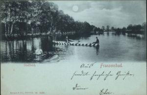 Franzensbad Stadtteich Boot x