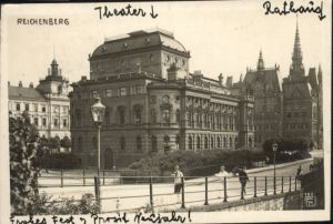 Reichenberg Boehmen Theater Rathaus  x
