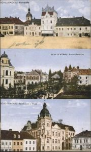 Schluckenau Marktplatz Bahnhofstrasse Sparkasse Post x
