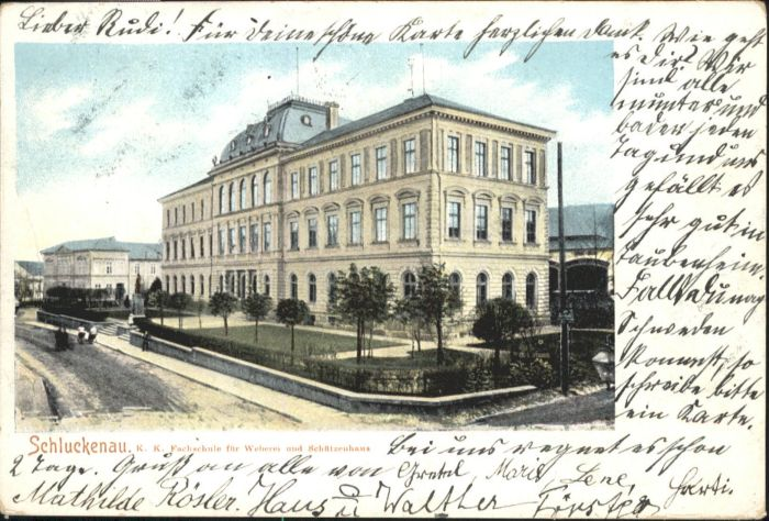 Schluckenau Fachschule Weberei x