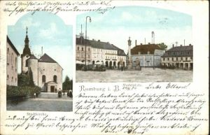 Rumburg Boehmen Kirche Marktplatz  x