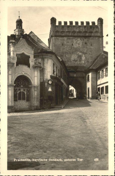Prachatitz bayrische Ostmark unteres Tor *