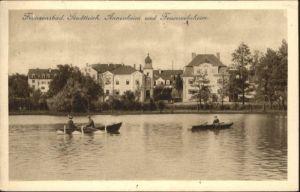Franzensbad Stadtteich Annenheim Feuerwehrheim Boot x