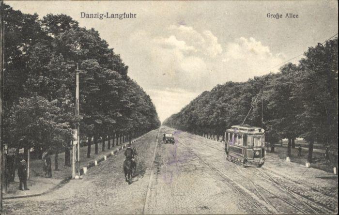 Langfuhr Danzig Grosse Allee Strassenbahn  x