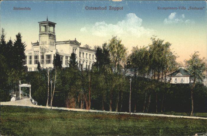Zoppot Stolzenfels Kronprinzen Villa Seehaus *