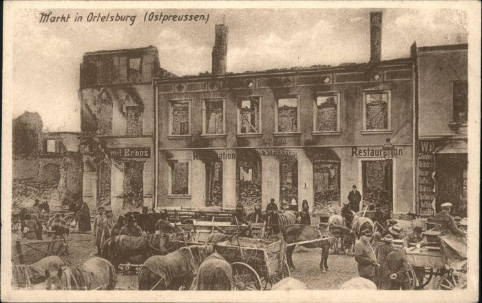 Ortelsburg Ortelsburg Ostpreussen Markt Zerstoerung * /  /