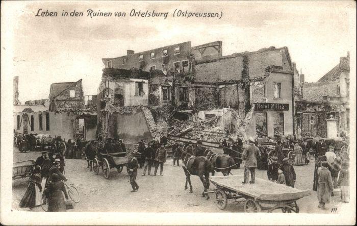 Ortelsburg Ortelsburg Ostpreussen Ruinen Zerstoerung * /  /