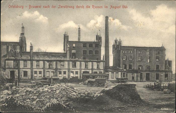 Ortelsburg Ortelsburg Brauerei Zerstoerung  x /  /