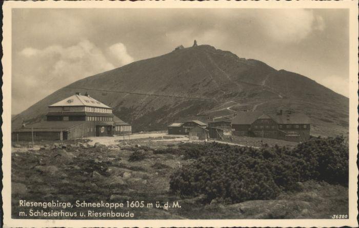 Schlesierhaus Schneekoppe Riesenbaude Riesengebirge *