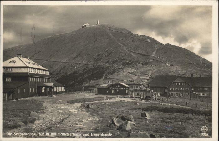 Schlesierhaus Riesenbaude Schneekoppe Riesengebirge x