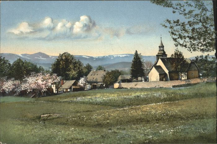 Buchwald Riesengebirge Kirche  x