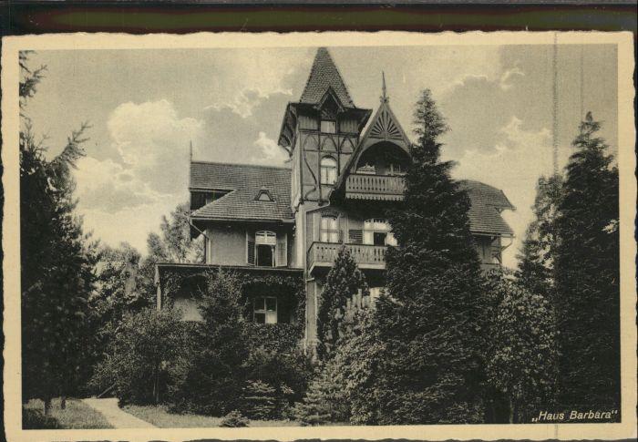Ober-Schreiberhau Riesengebirge Haus Barbara *