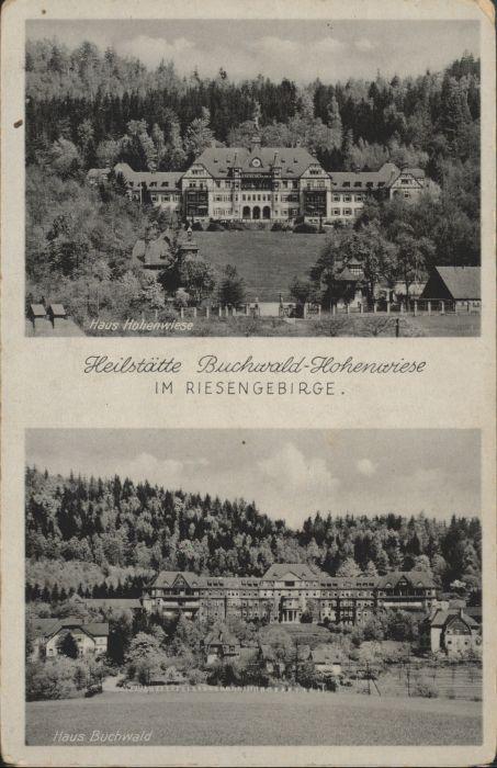 Hohenwiese Riesengebirge Heilstaette Buchwald  *