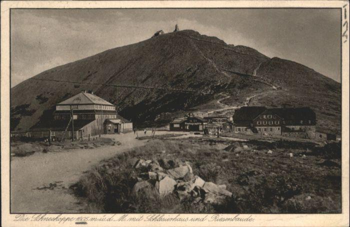 Schlesierhaus Riesenbaude Schneekoppe x
