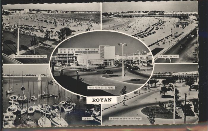 Royan Boulevard Botton la Plage Rond-Point de la Poste le Port *