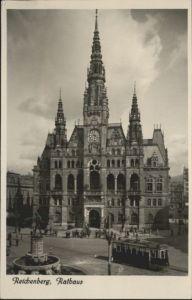 Reichenberg Strassenbahn Rathaus  *