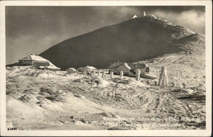 Schlesierhaus Riesengebirge Riesenbaude Schneekoppe x