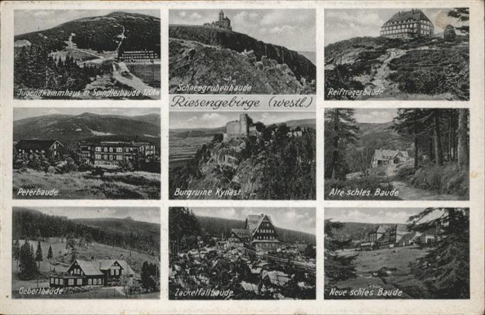 Schneegrubenbaude Reiftraegerbaude Peterbaude Zackelfallbaude Riesengebirge